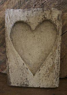 Wooden Heart Sugar Mold
