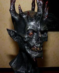 """Astaroth"" my original design for a demonic elf king. Snow Monster, Monster Art, Character Concept, Concept Art, Christmas Horror Movies, The Devil's Own, Elf King, Sculptures, Lion Sculpture"