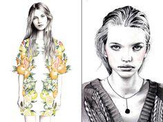 Ilustração de moda, de Hanna Müller