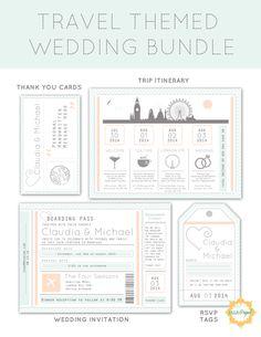 Destination Wedding Invitation Package: Printable by EllePapel