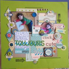 Love love all the little diamonds & embellies on this page!!