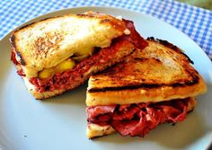 Cuban grilled cheese sandwich is a delicious, meaty alternative to the standard grilled cheese sandwich.