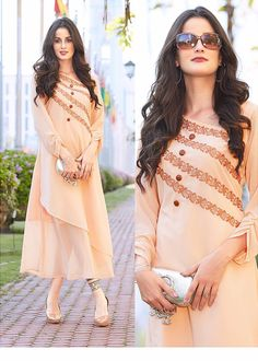 "Trendy Fashion Season ""Dress the way you want the world to see you Pakistani Fashion Casual, Pakistani Dresses Casual, Abaya Fashion, Indian Dresses, Indian Fashion, Fashion Dresses, Kurta Designs, Abaya Mode, Kurti Embroidery Design"