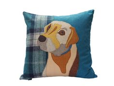 Fox Red Labrador, Golden Labrador, Animal Quilts, Animal Pillows, Felt Embroidery, Embroidery Patterns, Bespoke, Dog Cushions, Pet Portraits