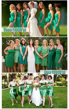 Love the colors on the bottom picture, and the holding hands. Dig her dress too.