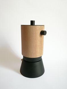 Moka _ Lunika 360 Black edition _ design Francesco Fusillo Lunika coffeemaker