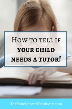 SO often, I tell parents how much students DO NOT need a tutor. (Coming from a 12 year tutor). I tell parents that 9 times out of 10, your student won't need a tutor. SO HOW DOES A PARENT KNOW WHETHER OR NOT THEIR CHILD NEEDS A TUTOR TO DO BETTER IN SCHOOL? Study Skills, Study Tips, High School Tutoring, Essay Tips, Test Prep, Study Motivation, Essay Writing, Best Mom, To Tell