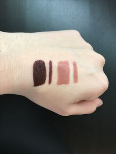 """HONEYCOMB"" IS THE BEST LIPSTICK EVER! Left: Bite Beauty Amuse Bouche Lipstick in ""Whiskey"" and Bite Beauty Lip Pencil in ""044"" Right: Bite Beauty Amuse Bouche Lipstick in ""Honeycomb"" and Bite Beauty Lip Pencil in ""020"""