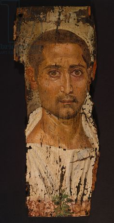 Mummy Portrait of a Bearded Man, c.225-250 AD (encaustic on wood)