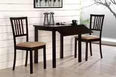 Dropleaf Table and Chairs – Jackson 3pc Dinette Set Cappuccino at http://suliaszone.com/dropleaf-table-and-chairs-jackson-3pc-dinette-set-cappuccino/