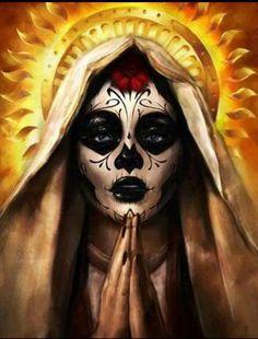 Sugar Skull Virgin Mary
