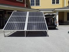 Of course there were solar panels at our expo in the Okemo Valley, Vermont!