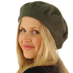 Classic Winter 100% Wool Warm French Art Basque Beret Tam Beanie Hat Cap  Olive 6f850087e2cc