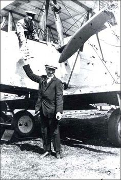 """[June First non-stop transatlantic flight: John Alcock and Arthur Brown flew a modified Vickers Vimy from St. John's Newfoundland to Clifden Ireland on June 1415 They were awarded a """"Daily Mail"""" prize of 10000 and both men were knighted by King George V. Clifden Ireland, Galway Ireland, Arthur Brown, Economic Geography, Today In History, Newfoundland And Labrador, Connemara, Non Stop, World War I"""