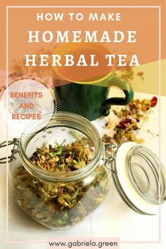 Find out what is herbal tea, how to make it and what are its benefits. Get inspired by my herbal tea recipes and learn how to make your own!