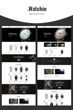 Watchin - eCommerce Shopify Theme is a responsive watch store Shopify theme. This multipurpose Shopify theme is perfect for brand or non-brand watch store. Ebay Watches, Web Design Software, Ecommerce Template, Website Themes, Presentation Design, Website Template, Wordpress Theme, Templates, Design Ideas