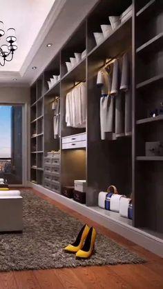 Master Closet Design, Walk In Closet Design, Wardrobe Room, Closet Bedroom, Sliding Wardrobe, Wardrobe Door Designs, Closet Designs, Modern Closet, Modern Wardrobe