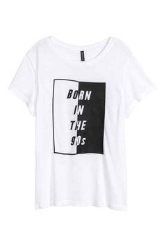 Camiseta con motivo estampado : Camiseta de punto con estampado.