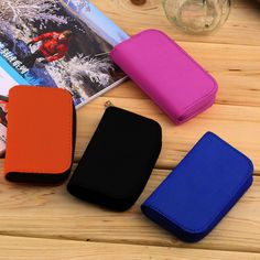 4 Colors MMC SDCF Micro Memory Card Storage Carrying Pouch bag Box Case Holder Protector Wallet #Affiliate