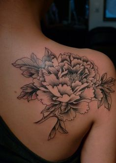 perfect peony tattoo