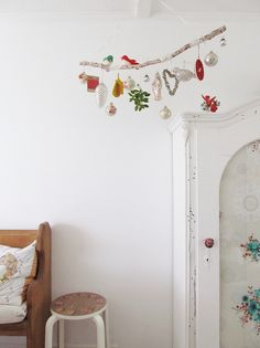 decorated hanging branch