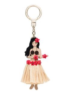 Kate Spade Leather Hula Girl Keychain In Multi Hula Girl, Metal Trim, Brown Girl, Leather Keychain, Key Fobs, Leather Craft, Red Gold, Designing Women, Clutch Bag