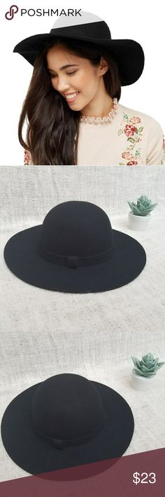 728b4af6bca Forever 21 Coupons · Black Wool Felt Wide Brim Panama Fedora Witchy Hat A  classic! This wide brim wool