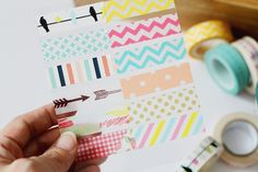 A simple way to keep track of your Washi collection and figure out which tape will work best with each project.