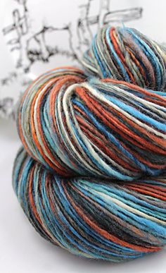 Handspun Yarn Gently Thick and Thin Worsted Single Blue Faced Leicester 'Good Company'