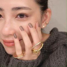 Simple Nail Art Designs, Fall Nail Designs, Asian Makeup, Eye Makeup, Cute Nails, Pretty Nails, Makeup Storage Display, Nail Art Printer, Gel Nails