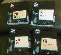 Hp 711 Design jet T20/T50 Ink Cartridges Bk/Y/C/M CZ129A CZ130A CZ131A CZ132A