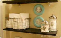 shelves kids bathroom