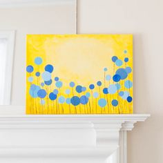 Abstract Flower Painting Tutorial | Thrifty Below
