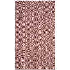 Safavieh Montauk Handmade Geometric Flatweave Ivory/ Red Cotton Rug (3' x 5') (MTK333C-3), Size 3' x 5'