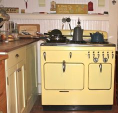 1950's Chamber's stove at my bungalow retreat. www.bungalowretreat.com