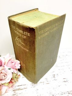 SHAKESPEARE,Complete Works of William Shakespeare , 1930s, Wedding Decor Photo Prop,by beachbabyblues on Etsy, $85.00