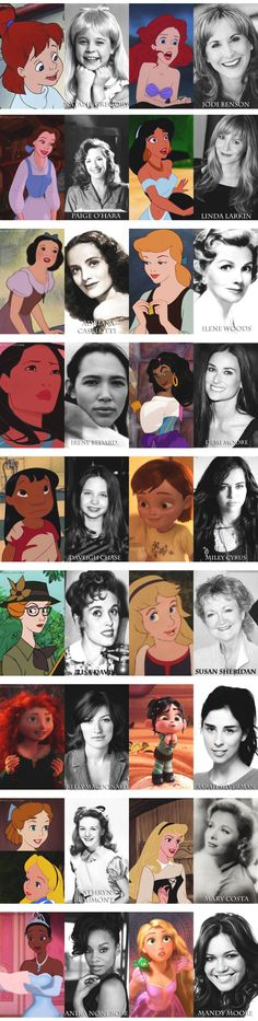 Disney heroines and their voice actresses