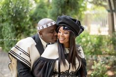 A Gorgeous Sotho Bride In A Stunning Xhosa Cape Dress - South African Wedding Blog Sotho Traditional Dresses, African Traditional Wedding Dress, African Fashion Traditional, Traditional Outfits, African Fashion Ankara, African Print Fashion, African Wear, African Women, African Dress