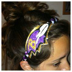 Baltimore Ravens glitter headband