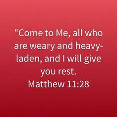 Matthew 11:28 HCSB