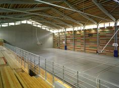 Centre culturel, sportif et de congrès - Herault Arnod Architectes Gymnasium Architecture, Architecture Design, My Building, Building Design, Multipurpose Hall, Athletic Center, Backyard Basketball, Gym Interior, Youth Center