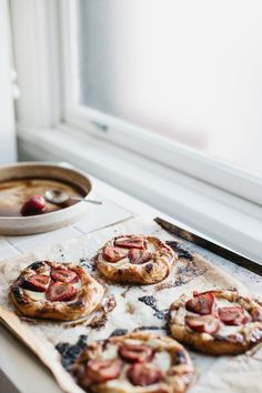 Roasted Balsamic Strawberry + Labneh Danishes