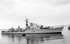 HMS Diana(D126), a Daring-class destroyer. Planned during WW II by the RN. The design  reflected developments of the Pacific campaign, including long range and the ability to efficiently Replenish At Sea (RAS). She was built by Yarrow and Co. at Clydebank.Laid down 03/04/47 &, commissioned 29/03/54. Was to be named HMS Druid but this changed prior to launching. Sold to Peruvian Navy in '69 & renamed BAP Palacios, stricken in '93.