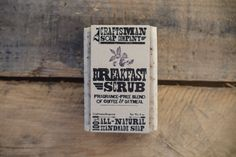 Breakfast Scrub. Coffe & Oatmeal Soap. 100 by CraftsmanSoapCo