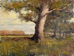 """""""Passing Hours,"""" another tonalist landscape with a nod to Inness. 9 x 12"""