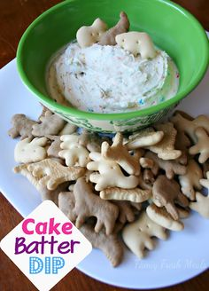Cake Batter Dip Only 3 ingredients! Serve with strawberries, bananas, apples, and grapes