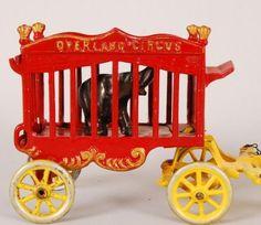 Antique Vintage Cast Iron Horse Drawn Stage Coach Wagon