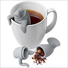 Sloth Tea Infuser Strainer Silicone Loose Leaf Coffee Filter Novelty WT