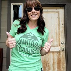 Who's got two thumbs and is heeding the call of the mountains? click through to get your own shirt!