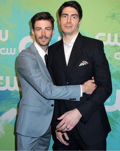 brandonrouth: Quote it! #BarRayTeamup #FLATOMHugs #HugUnexpected #CWUpfronts (This may be one of my favorite photos ever--definitely favorite with #grantgustin )